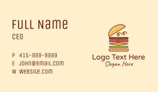 Burger Fast Food Business Card