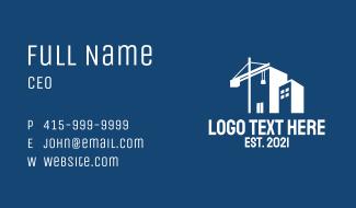 Property Construction Crane Business Card