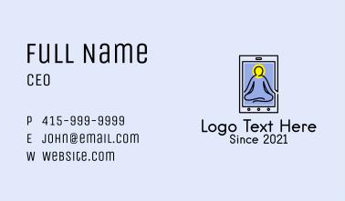 Online Yoga Class  Business Card