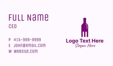 Liquor Bottle Distillery Business Card