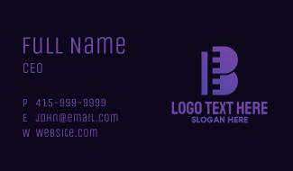 Violet Film Letter B Business Card