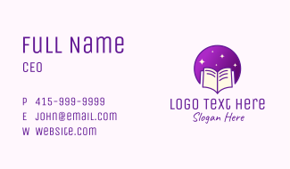 Starry Learning Book  Business Card