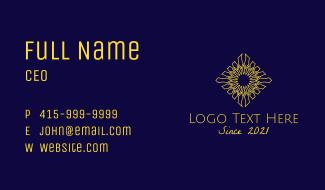 Decorative Flower Centerpiece Business Card