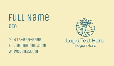 Tropical Palm Tree Monoline Business Card