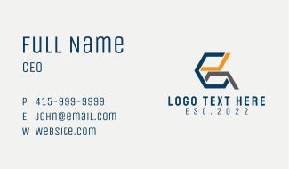 Letter G Geometric Business Card