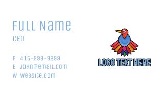 Cute Colorful Vulture Business Card