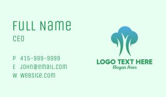 Modern Fresh Tree Business Card