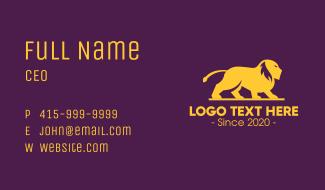 Elegant Golden Lion Business Card