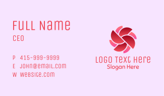 Abstract Flower Wheel Business Card