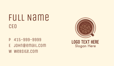 Roasted Coffee Bean Drink Business Card