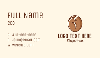 Brown Fox Coffee Bean Restaurant Business Card