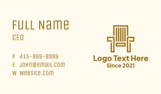 Wooden Garden Chair Business Card