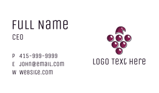 Grape Hawk Business Card
