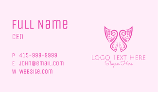 Abstract Ornamental Butterfly Business Card