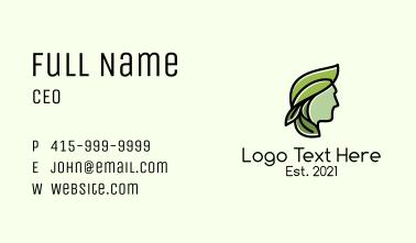 Green Leaf Organic Man Business Card