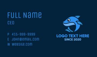 Blue Little Shark Business Card