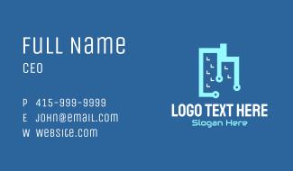 Tech Building Business Card