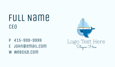 Sailing Whale Business Card