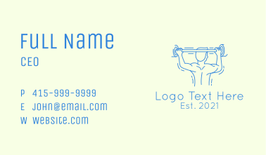 Athletic Gym Trainer  Business Card