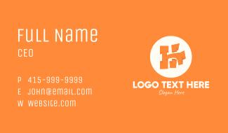 Orange Letter H Business Card