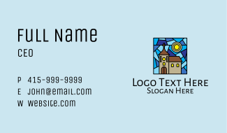 Parish Church Mosaic  Business Card