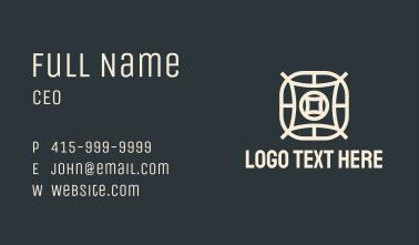 Star Pillow Textile Business Card