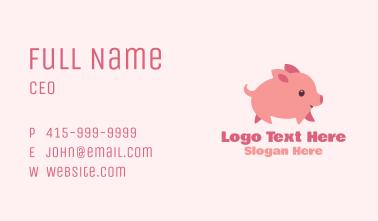 Pink Piglet Mascot  Business Card