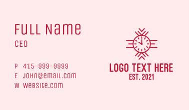 Red Wristwatch Business Card