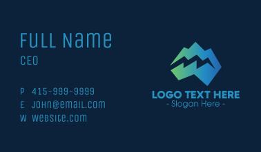Modern Iceberg Crack Business Card