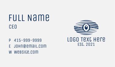 Blue Surveillance Eye  Business Card