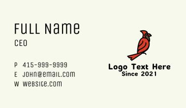 Cardinal Bird Business Card