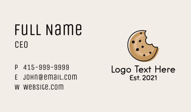 Cookie Bite Minimalist Business Card