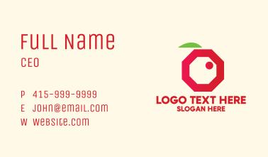 Modern Octagon Berry  Business Card