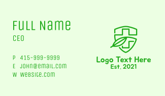 Green Medical Insurance  Business Card