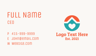 Loving Home  Business Card