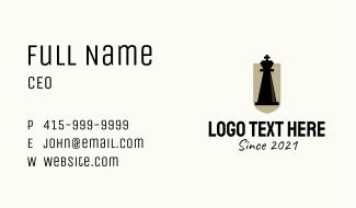 Chess Piece King  Business Card