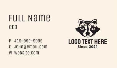 Raccoon Animal Mascot Business Card