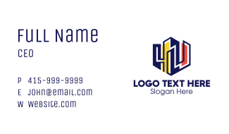 Colorful Urban City Business Card