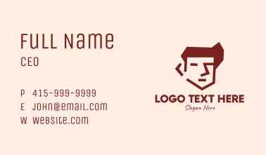 Brown Guy Head Business Card