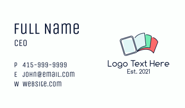Digital Book Pages Business Card