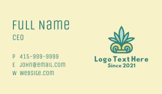 Tropical Palm Leaf Business Card