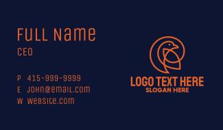 Orange Pigeon Monoline Business Card