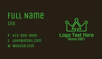 Neon Crown Arrow Business Card