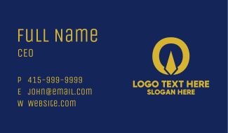 Gold Pen Company Business Card