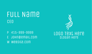 White DNA String Business Card