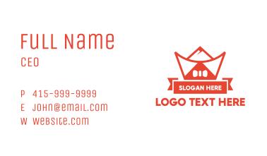 Ribbon Chinese Ingot Business Card