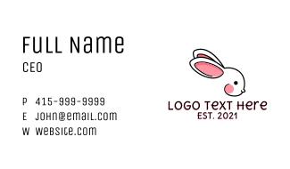 Baby Rabbit Line Art Business Card