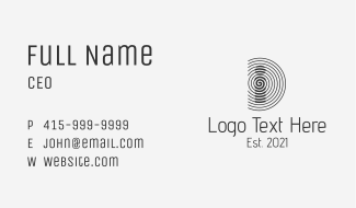 Security Company Letter D Business Card