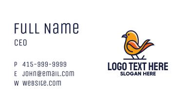 Orange Perched Bird Business Card