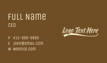 Varsity Coffee  Wordmark Business Card